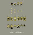army military insignia vector image vector image