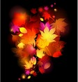 awesome autumn background vector image vector image