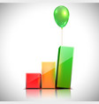 balloon lifts the chart vector image vector image