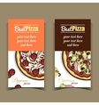 Banners Pepperoni Capricciosa Pizza vector image vector image