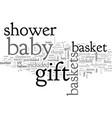 bashower gift baskets vector image vector image