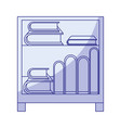 blue shading silhouette of decorative cabinet vector image vector image