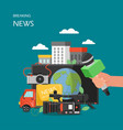 breaking news flat style design vector image