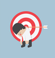 Businessman hanging on the target 380x400 vector image vector image