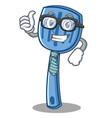 businessman spatula character cartoon style vector image vector image