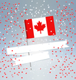 Canadian flag and white ribbon vector image vector image