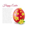 card with Easter egg vector image vector image