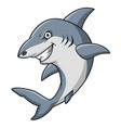 cartoon angry shark mascot design vector image vector image