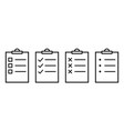 checklist icon symbol for your web site design vector image