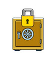 color strong box object and padlock security vector image vector image