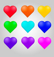 colorful heart set vector image vector image