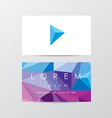 Company business card Template vector image