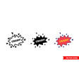 crash icon 3 types color black and white vector image vector image