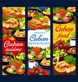 cuban cuisine restaurant vertical banners vector image vector image