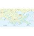 detailed map mississippi river delta vector image vector image