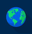 earth space planet icon flat style vector image vector image
