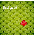 easter green eggs vector image vector image