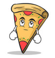 eye roll pizza character cartoon vector image vector image