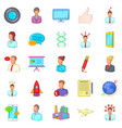 factory icons set cartoon style vector image vector image
