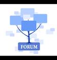 Forum Tree in blue color vector image vector image