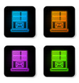 glowing neon mail server icon isolated on white vector image vector image