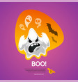 halloween greeting card boo vector image