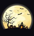 halloween night scenery background decorative vector image