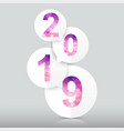 happy new year 2019 background polygon number vector image