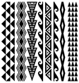 Hawaiian Kakau Tattoo Set vector image