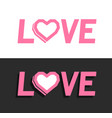 heart logo design template vector image
