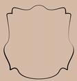 Heraldic shield border shape label hand draw vector image vector image