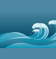 high tide water waves background vector image vector image
