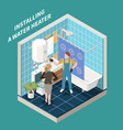 isometric plumber composition vector image