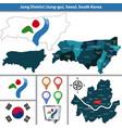 jung district seoul city south korea vector image vector image