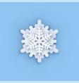 Layered paper cut art snowflake icon snow