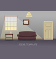 living room interior with furniture vector image vector image