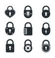 Lock icons signs or symbol padlock icon vector image vector image