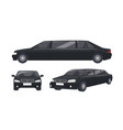 luxury black limousine isolated on white vector image vector image