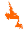 map of newfoundland and labrador vector image