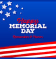 memorial day - greeting card design vector image vector image