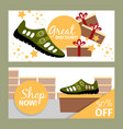 men summer green shoe flyers vector image vector image