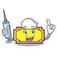 nurse ticket character cartoon style vector image