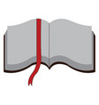 open book with white pages and red page marker on vector image vector image