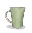 painted cup vector image vector image