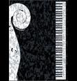 piano and violin vector image