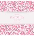 Pink 3d Vintage Valentines or Invitation vector image vector image
