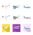 plane and transport sign vector image vector image