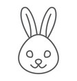 rabbit thin line icon animal and zoo bunny sign vector image vector image