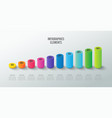 set infographic elements for graph chart vector image vector image