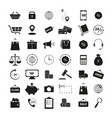 set of shopping 42 icons the finance business vector image vector image